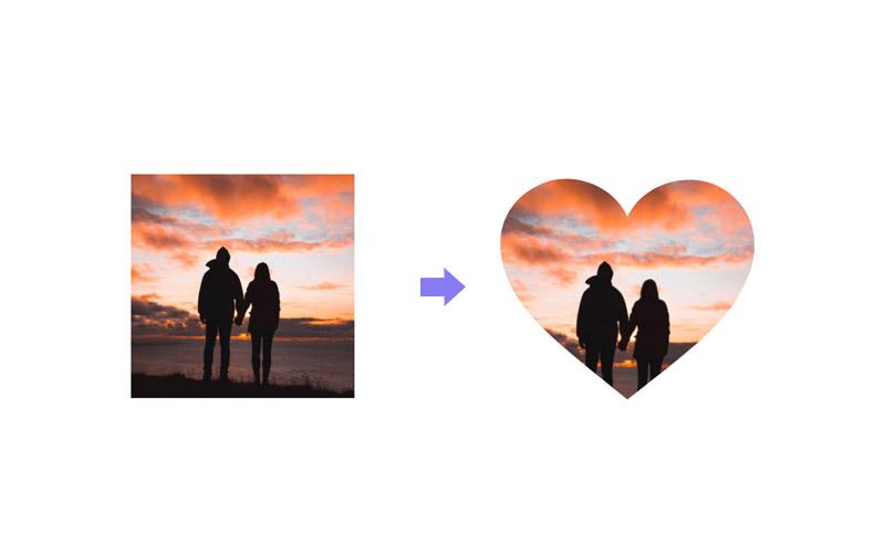 heart shape image css clip path