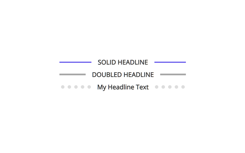 headline before after lines effect