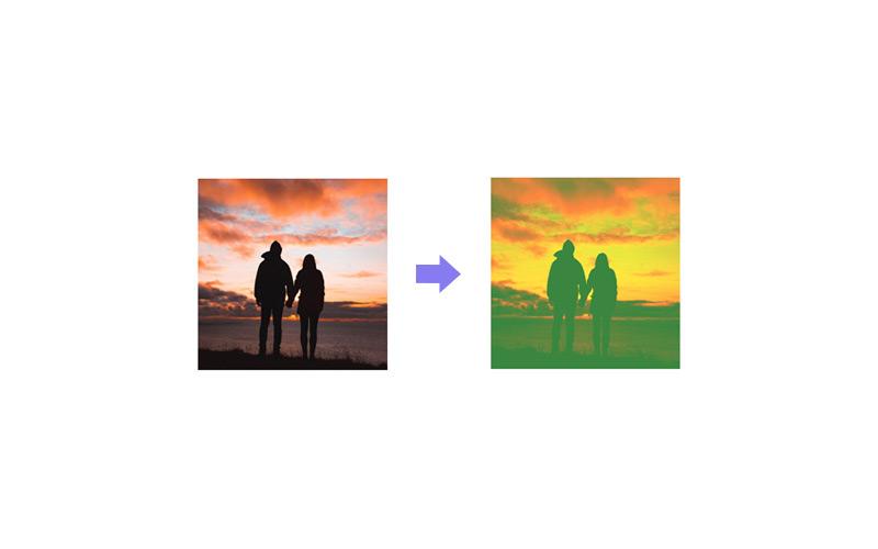 duotone two color photos