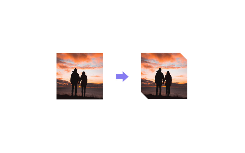 cut edges image effect